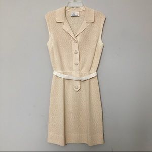 Vintage early 1960's Cream Crocheted Mini Dress